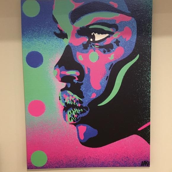 New In Box Abstract Graffiti Canvas Art Nwt